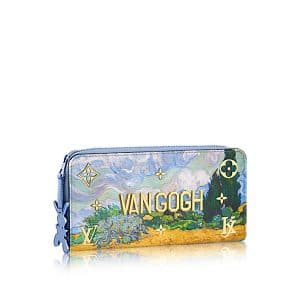 Louis Vuitton Light Blue A Wheatfield with Cypresses Zippy Wallet