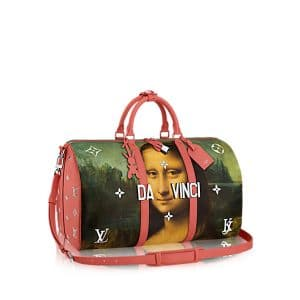 Louis Vuitton Poppy Mona Lisa Keepall 50 Bag