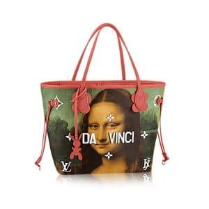Louis Vuitton Poppy Da Vinci Neverfull MM Bag