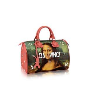 Louis Vuitton Poppy Mona Lisa Speedy 30 Bag
