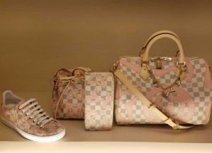 Louis Vuitton Rose Ballerine Damier Azur Tahitienne Bags and Sneakers
