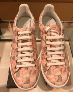 Louis Vuitton Rose Ballerine Damier Azur Tahitienne Bora Bora Sneaker