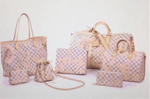 Louis Vuitton Rose Ballerine Damier Azur Tahitienne Collection