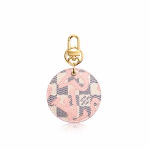 Louis Vuitton Rose Ballerine Damier Azur Tahitienne Illustre Bag Charm and Key Holder 2
