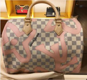Louis Vuitton Rose Ballerine Damier Azur Tahitienne Speedy Bandouliere 30 Bag 2