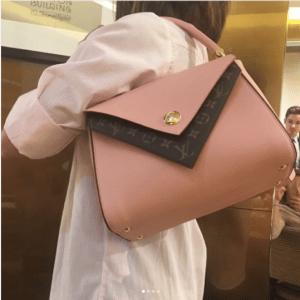 Louis Vuitton Rose Ballerine Double V Bag 2