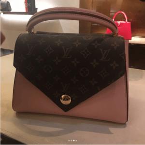 Louis Vuitton Rose Ballerine Double V Bag 4