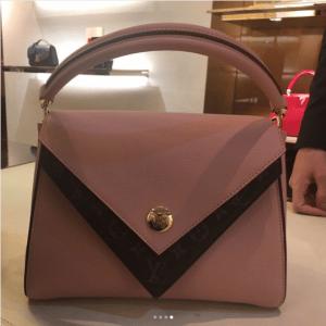 Louis Vuitton Rose Ballerine Double V Bag 5