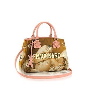 Louis Vuitton Rose Ballerine Girl With Dog Montaigne MM Bag