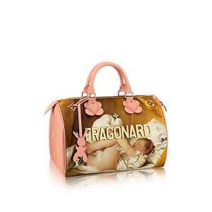 Louis Vuitton Rose Ballerine Girl With Dog Speedy 30 Bag