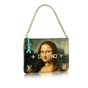 Louis Vuitton Vert d'eau Mona Lisa Clutch Bag