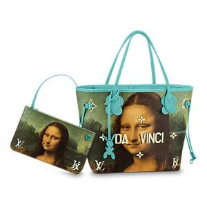 Louis Vuitton Vert d'eau Mona Lisa Neverfull MM Bag