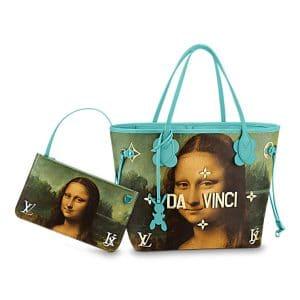 Louis Vuitton Vert d'eau Mona Lisa Neverfull MM Bag