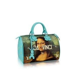 Louis Vuitton Vert d'eau Mona Lisa Speedy 30 Bag