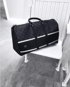 Louis Vuitton x Fragment Monogram Eclipse Keepall Bag