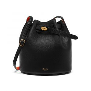 Mulberry Black/Bright Orange Abbey Bag