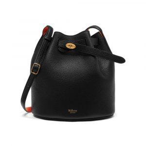 Mulberry Black/Bright Orange Abbey Bag