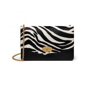Mulberry Black/White/Oxblood Zebra Haircalf Darley Bag