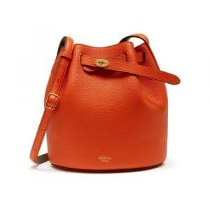 Mulberry Bright Orange/Clay Abbey Bag