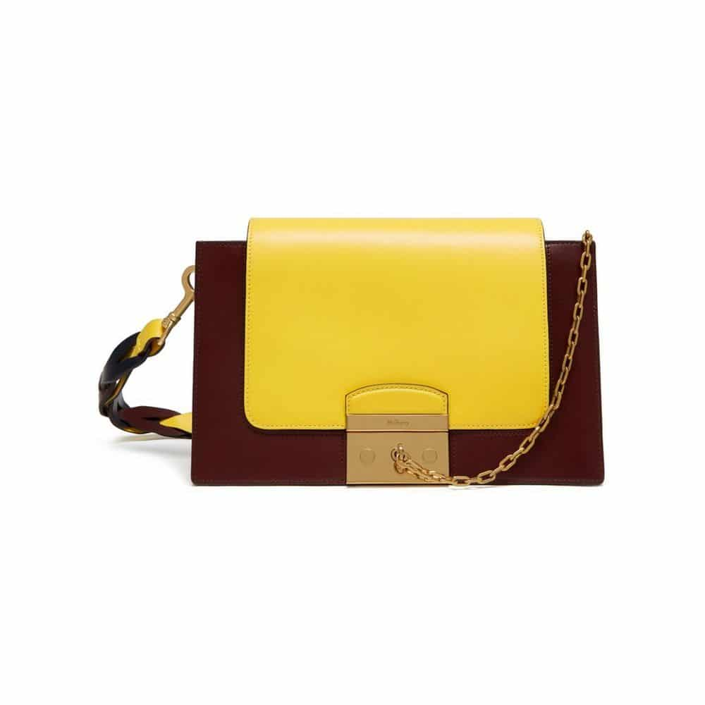 Mulberry Burgundy Lemon Midnight Pembroke Bag f941f9a421ab3