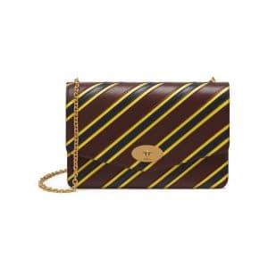 Mulberry Burgundy/Lemon/Midnight Stripe Patchwork Darley Bag