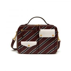 Mulberry Burgundy/White/Midnight Stripe Patchwork Cherwell Square Bag