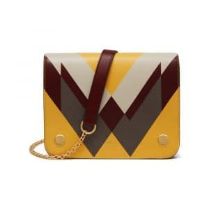 Mulberry Chalk/Clay/Canary Cream Printed Clifton Bag