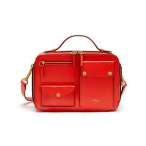 Mulberry Coral Red Cherwell Square Bag