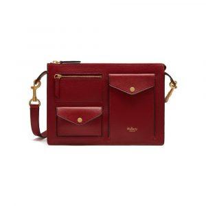 Mulberry Maroon Cherwell Satchel Bag