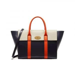 Mulberry Midnight/Chalk/Orange Bayswater with Strap Bag