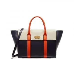 Mulberry Midnight/Chalk/Orange Bayswater with Strap Bag
