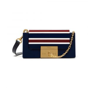 Mulberry Midnight/White/Burgundy Acetate Small Pembroke Bag