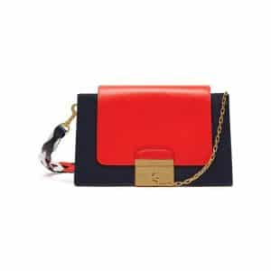 Mulberry Midnight/White/Coral Red Pembroke Bag