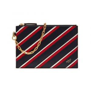 Mulberry Midnight/White/Scarlet Stripe Patchwork Cherwell Pouch Bag