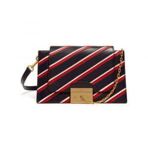 Mulberry Midnight/White/Scarlet Stripe Patchwork Pembroke Bag