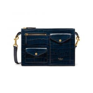 Mulberry Navy Croc Print Cherwell Satchel Bag