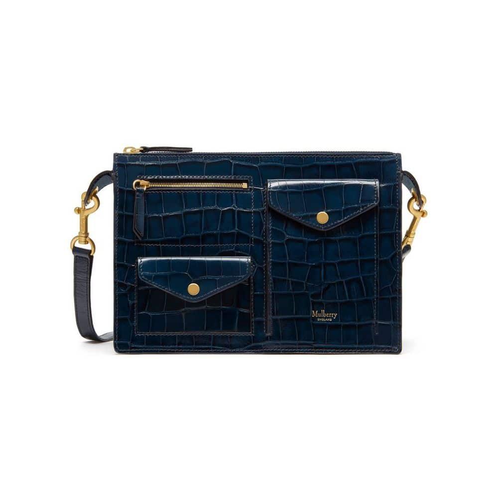 de3e669498ca ... usa mulberry navy croc print cherwell satchel bag ee3cb a9c88 czech  mulberry bayswater leather ...