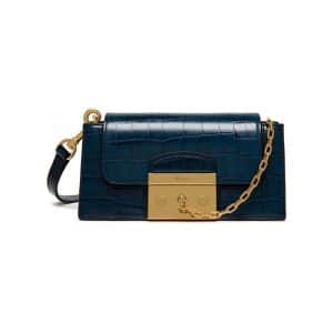 Mulberry Navy Croc Print Small Pembroke Bag