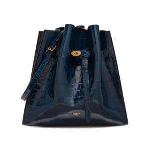 Mulberry Navy Croc Print Tyndale Bag