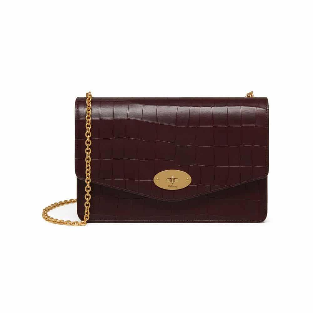 ... best price mulberry oxblood deep embossed croc print darley bag 226c7  73a5a 3d505bb32ce69