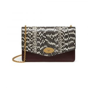 Mulberry Oxblood/Black Snakeskin/Smooth Calf Darley Bag