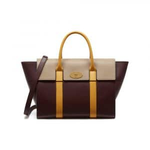 Mulberry Oxblood/Dune/Sunflower Bayswater with Strap Bag