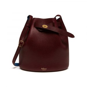 Mulberry Oxblood/Porcelain Blue Abbey Bag
