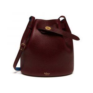Mulberry Oxblood/Porcelain Blue Abbey Bag