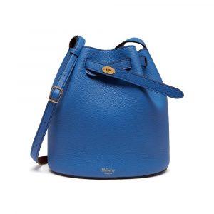 Mulberry Porcelain Blue/Oxblood Abbey Bag