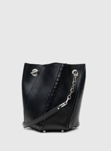 Proenza Schouler Black Mini Hex Bucket Bag
