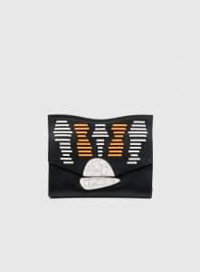 Proenza Schouler Black/White/Sunflower Whipstitch Small Curl Clutch Bag