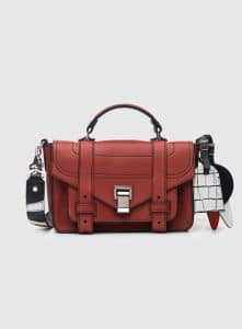 Proenza Schouler Brick PS1+ Tiny Bag with Patchwork Strap