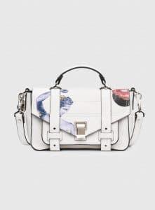 Proenza Schouler Optic White Printed PS1+ Tiny Bag