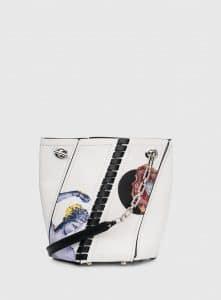 Proenza Schouler White Printed Mini Hex Bucket Bag
